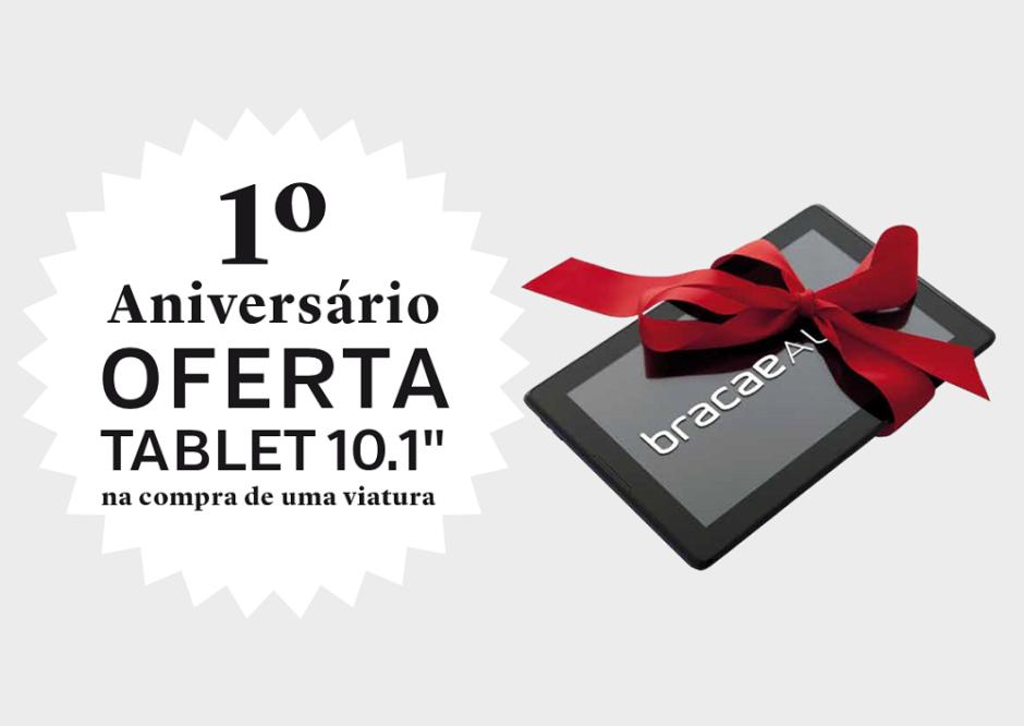 Campanha 1º aniversário compra um carro e recebe um tablet
